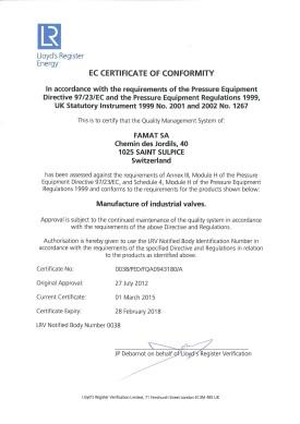 PED Certificate EN 2015 Thumb