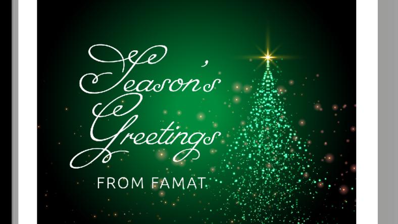 Season's Greetings from FAMAT